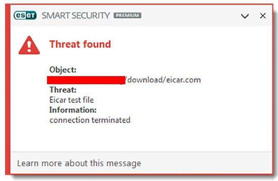 بسته شدن سایت توسط آنتی ویروس - یکی از نشانه های سایت هک شده