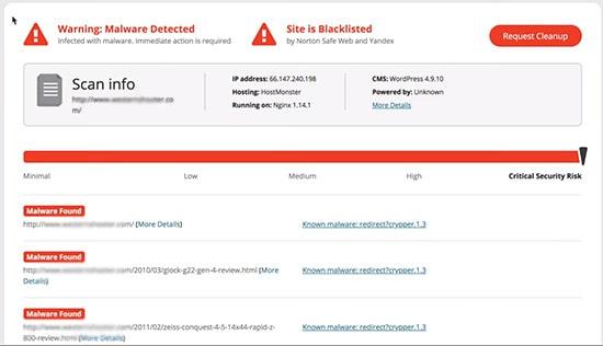 شناسایی سایت هک شده در سایت سوکوری