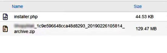 آپلود فایلها برای بازگردانی بکاپ افزونه Duplicator