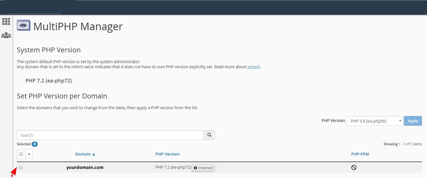 روش تغییر ورژن php در هاست Cpanel