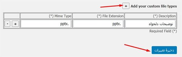 افزودن پسوند فایل های جدید به وردپرس