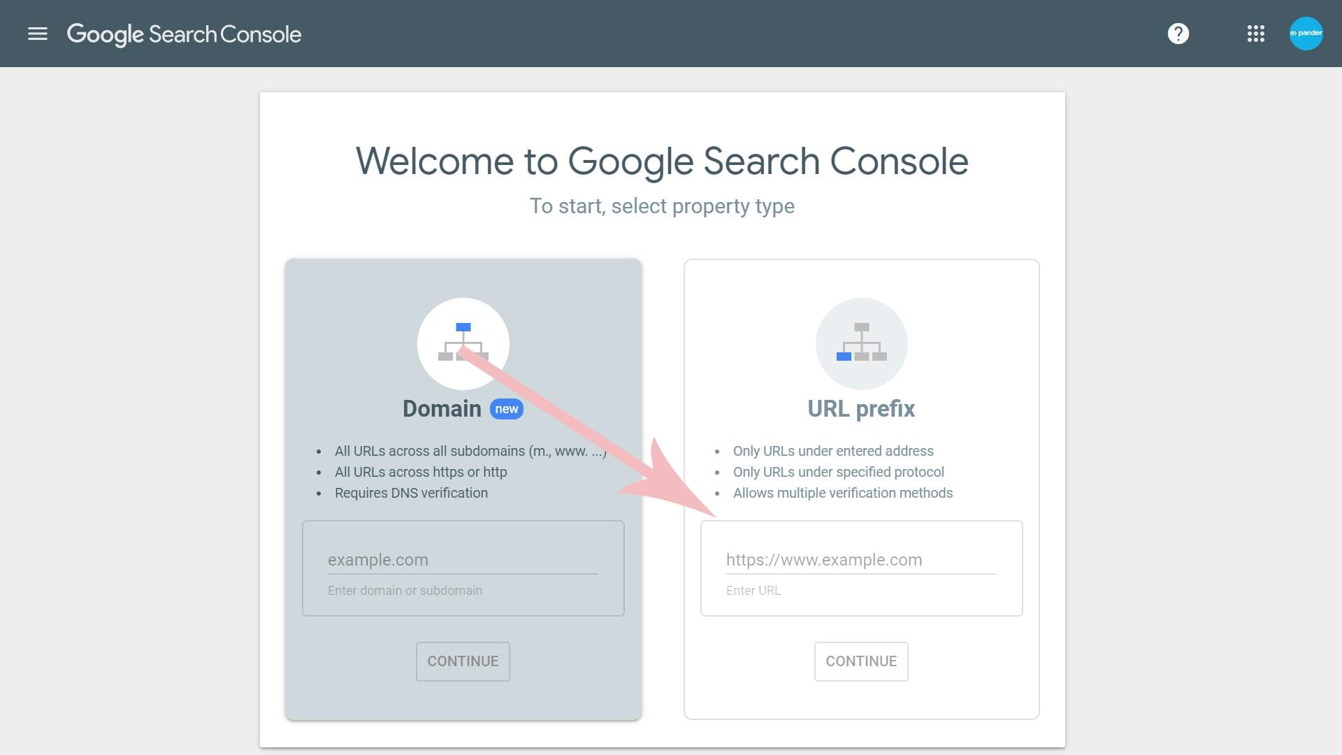 تایید دامنه در گوگل کنسول