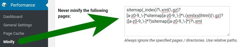 جلوگیری از کش شدن نقشه سایت در افزونه W3 Total Cache